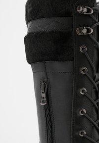 Refresh - Šněrovací vysoké boty - black - 2