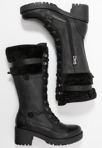 Refresh - Šněrovací vysoké boty - black - 3