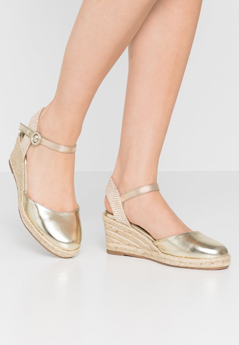 Refresh - Espadrilky - gold