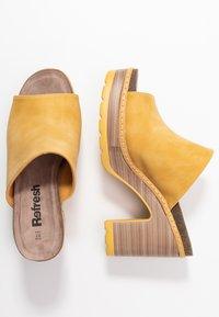 Refresh - Heeled mules - yellow - 3