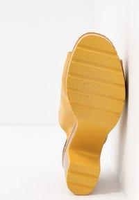 Refresh - Heeled mules - yellow - 6