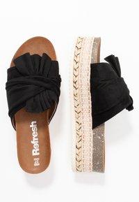 Refresh - Pantofle na podpatku - black - 3