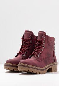 Refresh - Platform ankle boots - burgundy - 4