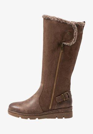 Platform boots - marron