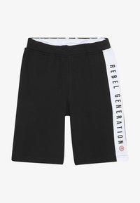 Re-Gen - TEEN BOYS BERMUDA - Pantalon de survêtement - black - 2