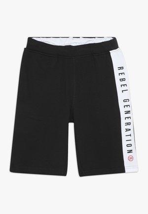 TEEN BOYS BERMUDA - Teplákové kalhoty - black