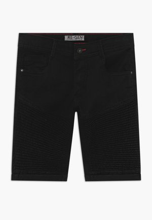 TEEN BOYS BERMUDA - Denim shorts - black