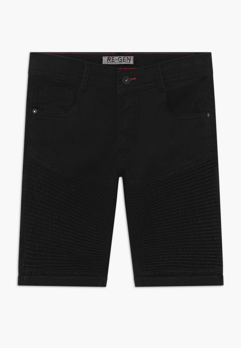 Re-Gen - TEEN BOYS BERMUDA - Denim shorts - black