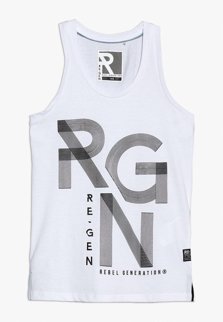 Re-Gen - TEENS SINGLET - Top - optical white
