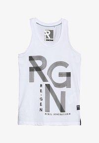 Re-Gen - TEENS SINGLET - Top - optical white - 2