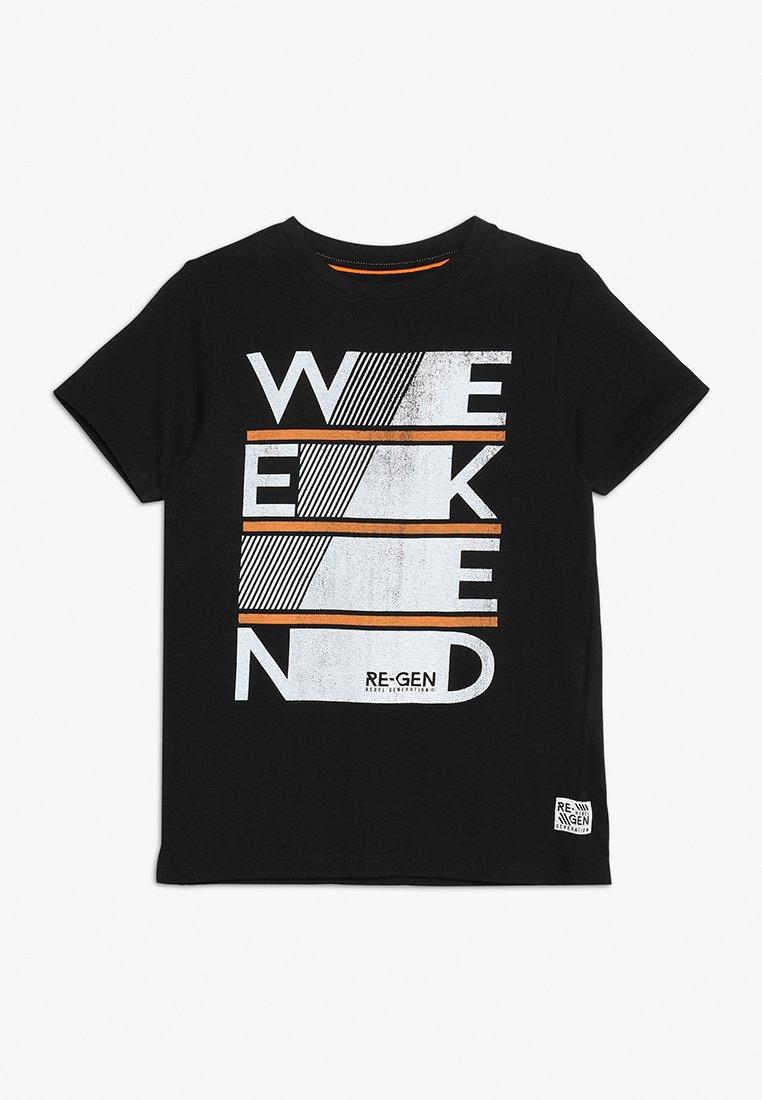 Re-Gen - TEENS - T-shirt imprimé - black