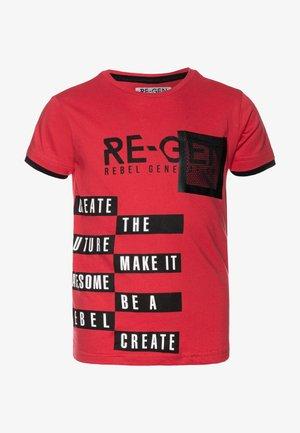 TEEN BOYS  - T-shirt imprimé - poinsetta