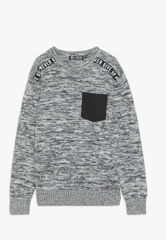 Strickpullover - black/white