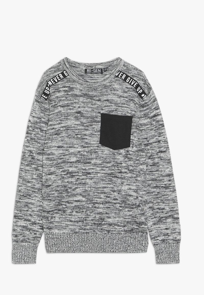 Re-Gen - Pullover - black/white