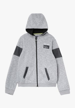 veste en sweat zippée - grey/white as swatch