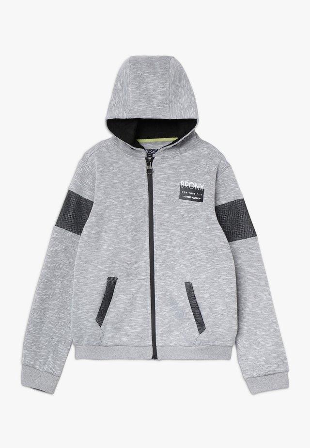 Hoodie met rits - grey/white as swatch