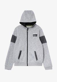Re-Gen - Felpa aperta - grey/white as swatch - 2