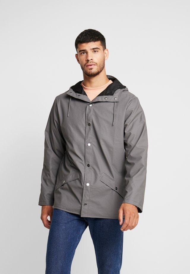 UNISEX JACKET - Waterproof jacket - charcoal