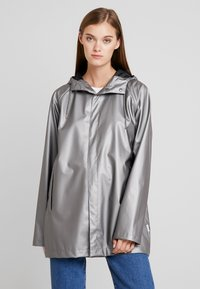 Rains - SHORT COAT - Regenjas - metallic charcoal - 3
