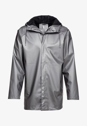 SHORT COAT - Regenjas - metallic charcoal