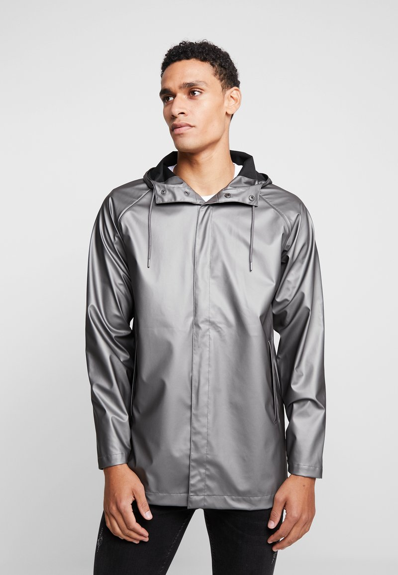 Rains - SHORT COAT - Waterproof jacket - metallic charcoal