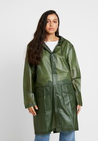 Rains - UNISEX HOODED COAT - Impermeabile - foggy green - 3