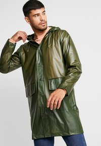 Rains - UNISEX HOODED COAT - Impermeabile - foggy green - 0