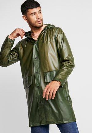 HOODED COAT - Regenjas - foggy green