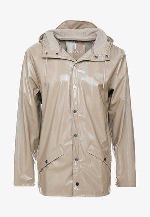 HOLOGRAPHIC JACKET - Waterproof jacket - beige
