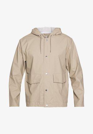 UNISEX SHORT HOODED COAT - Impermeable - beige