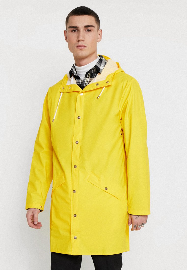 Rains - LONG JACKET - Sadetakki - yellow
