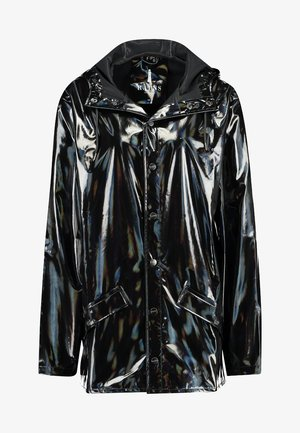 UNISEX HOLOGRAPHIC JACKET - Waterproof jacket - black
