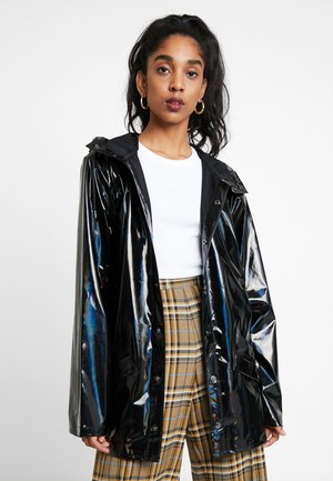 UNISEX HOLOGRAPHIC JACKET - Impermeabile - black