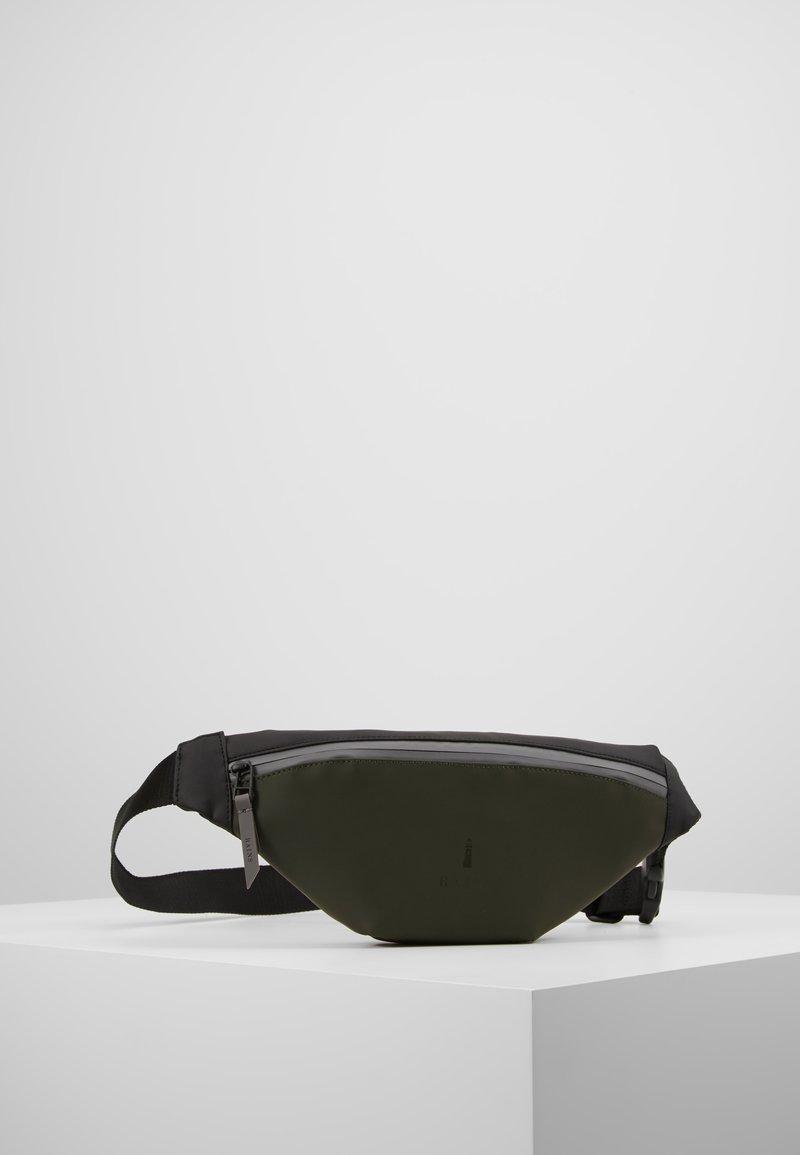 Rains - COLOR BLOCK BUM BAG MINI - Bum bag - green/black