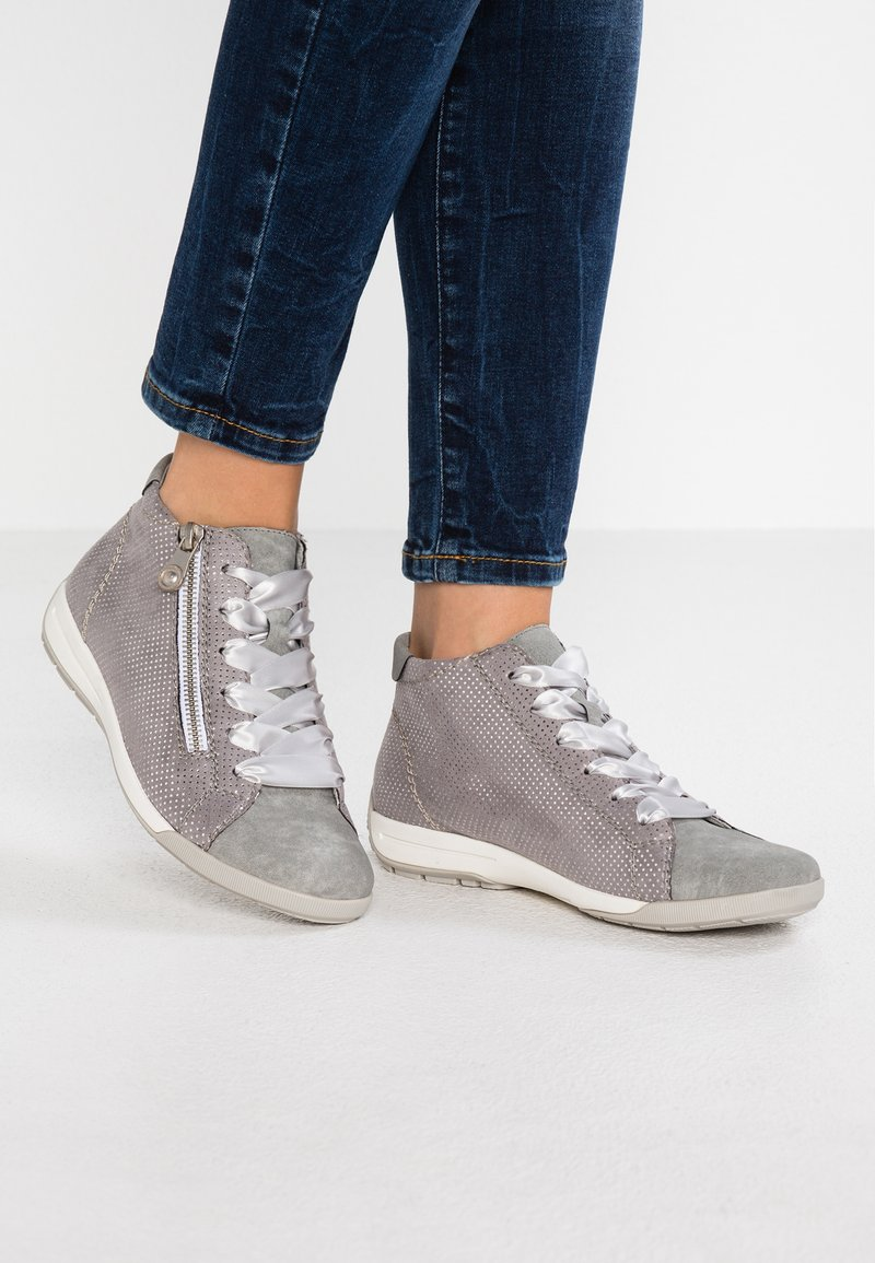 Rieker - Sneaker high - cement/grau/silber