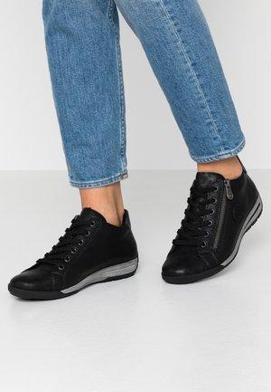 Sneakersy niskie - schwarz metallic/schwarz
