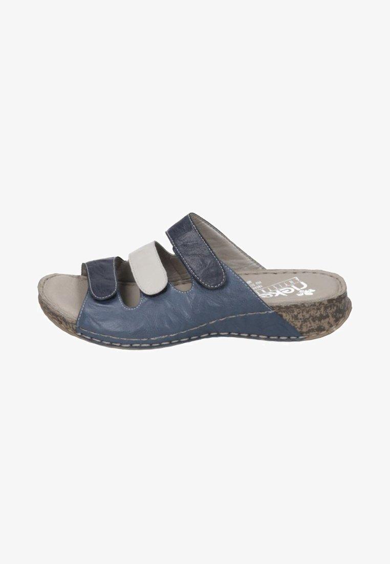 Rieker - Pantolette flach - blue