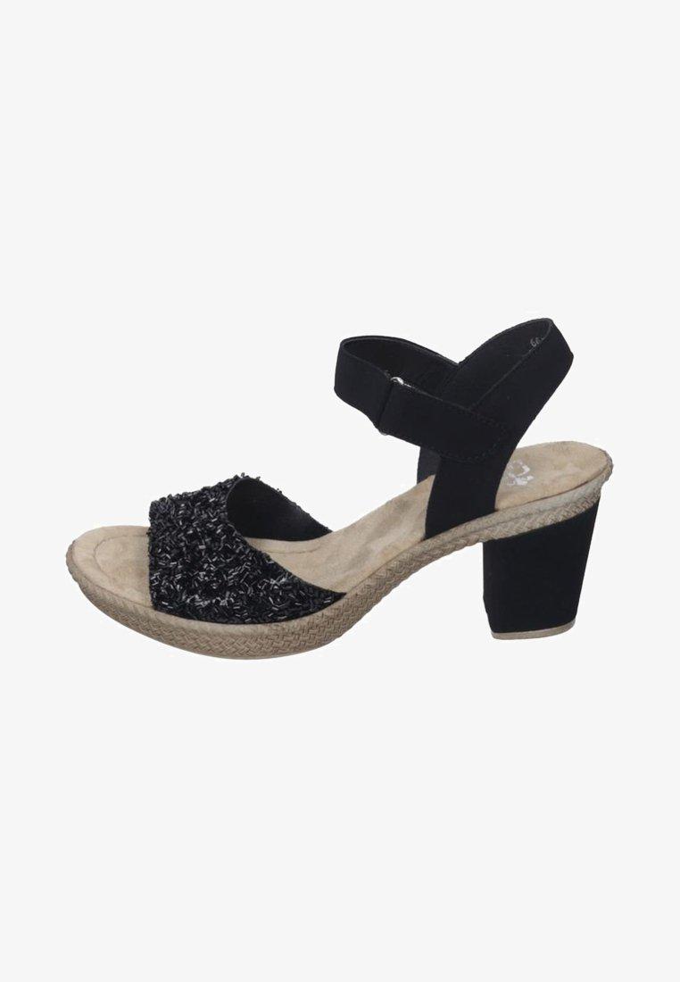 Rieker - High heeled sandals - black