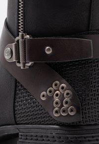 Rieker - Kovbojské/motorkářské boty - schwarz/moro - 2
