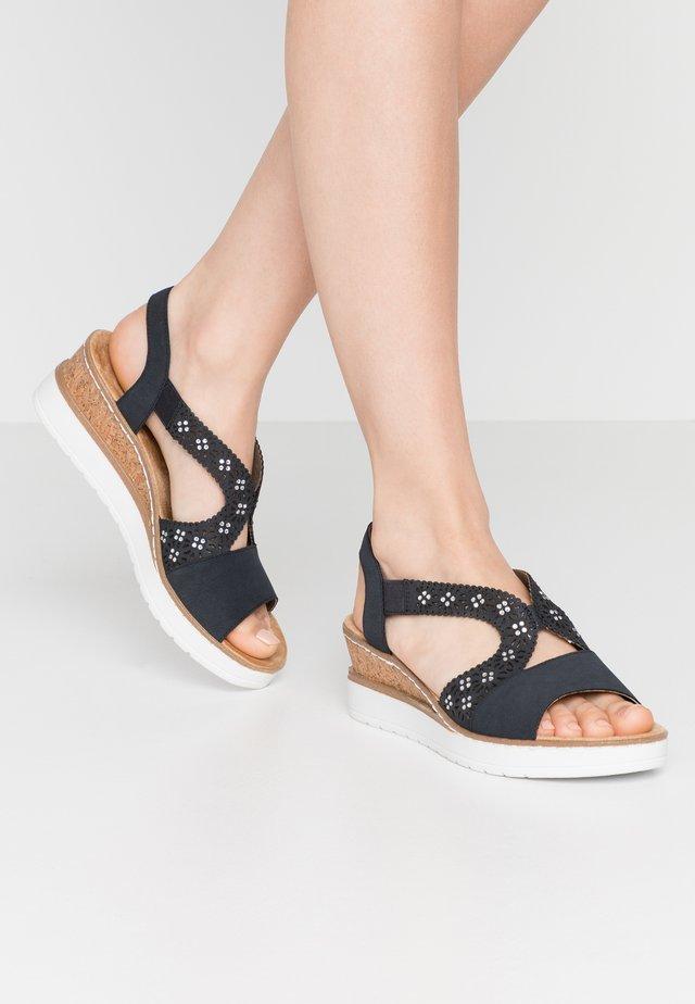 Sandales compensées - pazifik