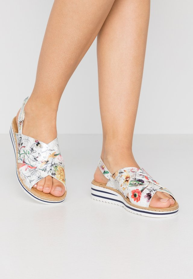 Wedge sandals - ice/multicolor