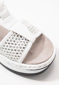 Rieker - Platform sandals - weiß/silber - 2