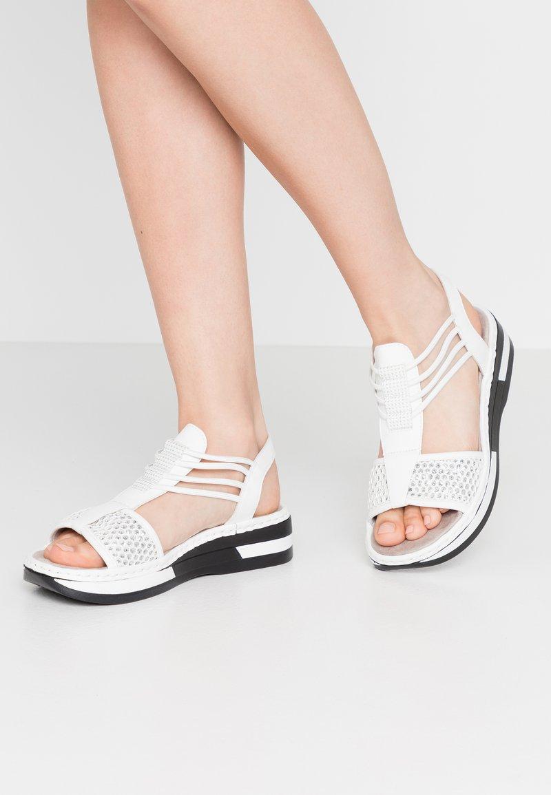 Rieker - Platform sandals - weiß/silber