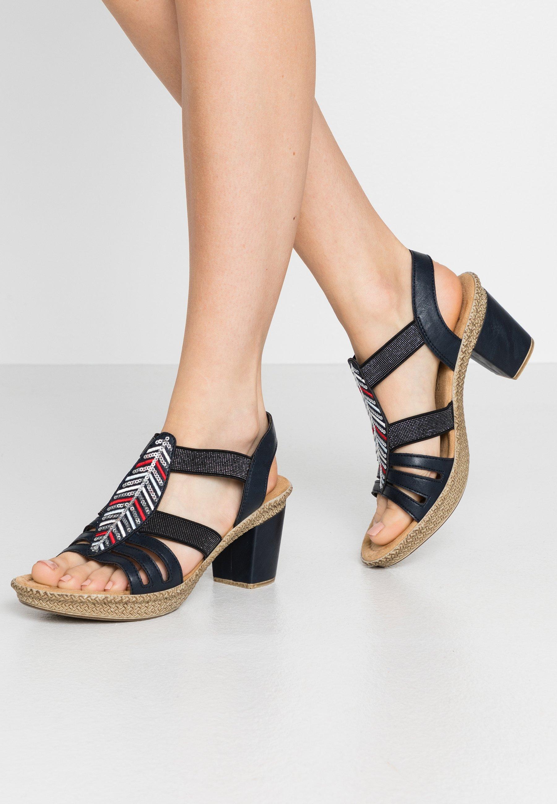 Rieker Sandaalit, joissa paljetteja Roosa Sandaletit