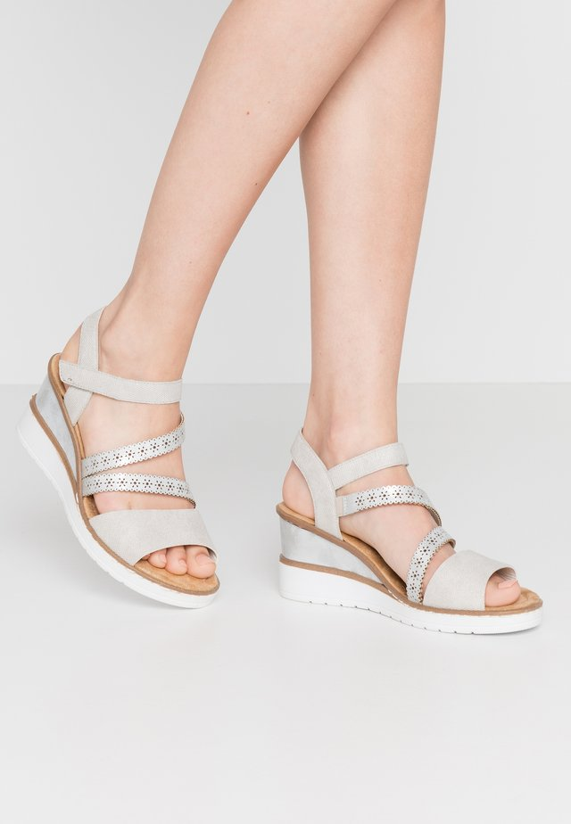 Wedge sandals - ice
