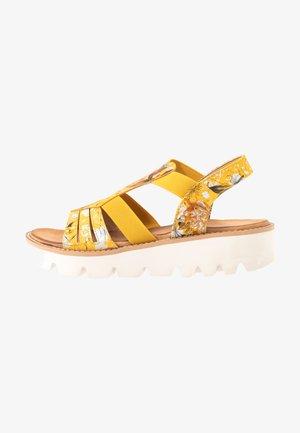 Platform sandals - yellow/multicolor