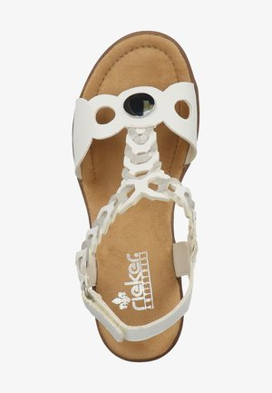 RIEKER SANDALEN - Sandales compensées - white