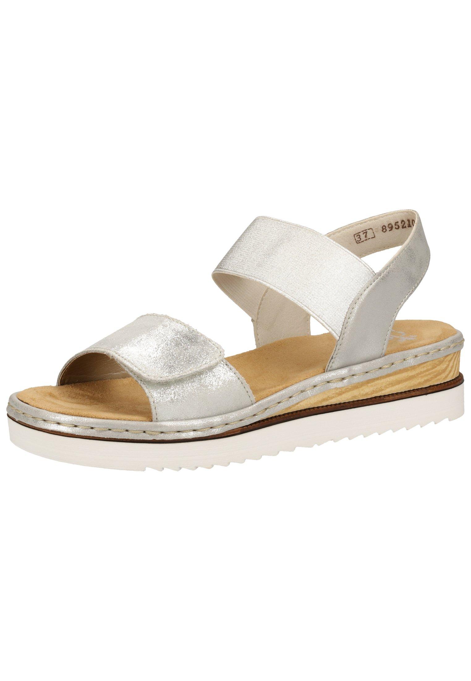 Sandalen met sleehak silverfrost 90