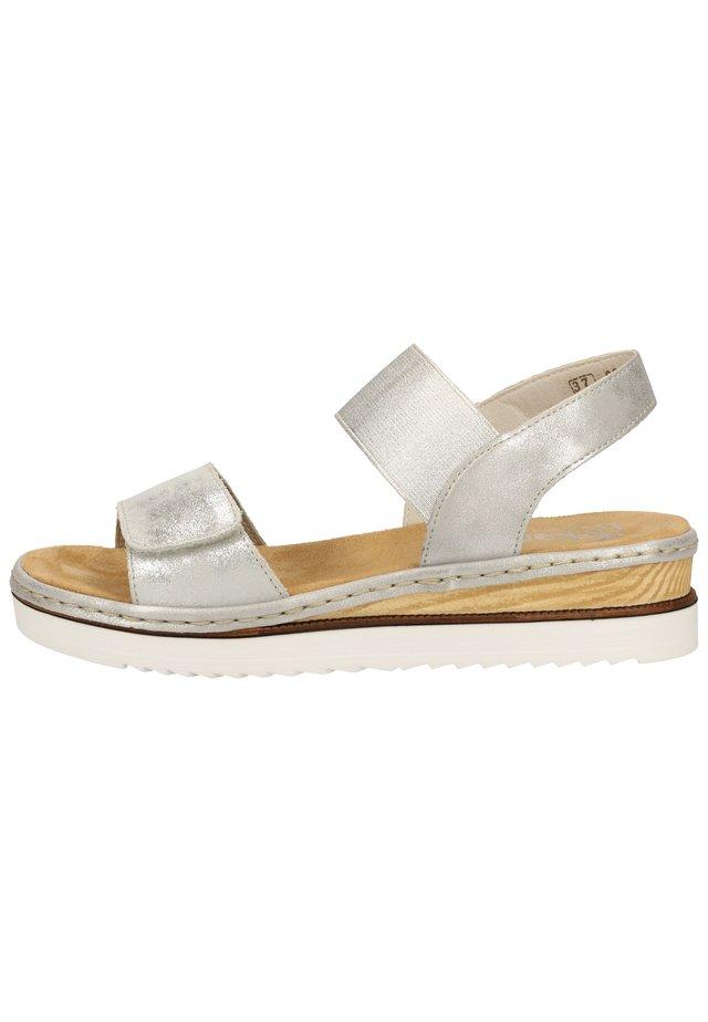 Sandales compensées - silver/frost 90