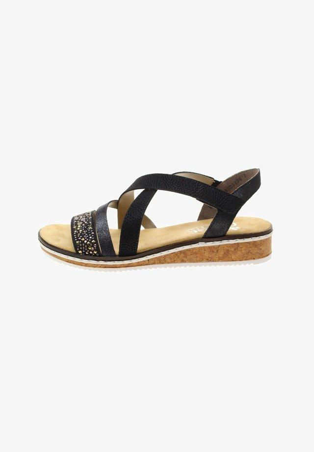 Sandals - schwarznightblueschwarz